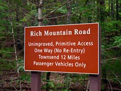 rich mountain road
